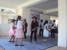 Students are practising for dance