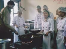 Students are making a food